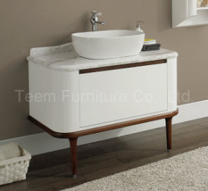 Classic Bath Waterproof Solid Wood Marble Top Cabinet Bathroom pictures & photos