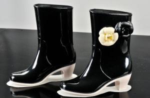 PVC Rain Boots for Women, High Heel Fashion Rain Shoe