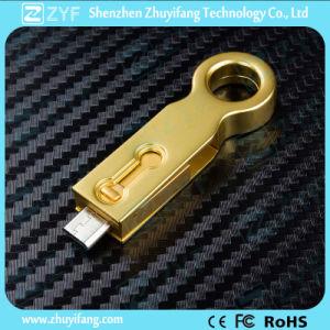 2016 Unique Design Metal 16GB OTG USB Flash Drive (ZYF1616) pictures & photos