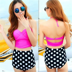 2015 Sexy Women′s Bikini Set Retro High Waisted Swimsuits (14344-5) pictures & photos
