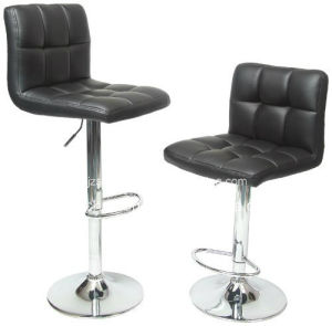 China Supplier Cheap Swivel PU Adjustable Seat Bar Stool Chair with Pedal pictures & photos