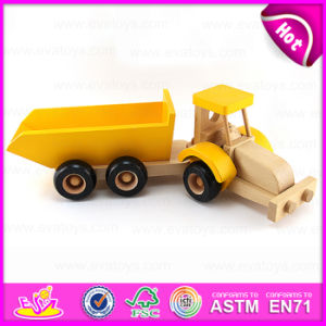Promotional Gift Small Trailer Wooden Toy Truck for Kids, DIY Assemble and Paint Wooden Toy Trucks for Children W04A174 pictures & photos