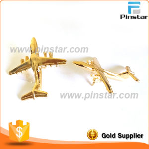 Factory Wholesale Vintage 3D Gold Aeroplane Airplane Metal Lapel Pin pictures & photos