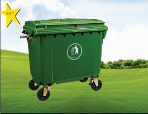 Newest Model! Special Model! 660L Plastic Mobile Garbage Bin with Three Lids pictures & photos