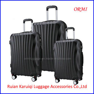 Fashion ABS Black Travel Trolley Luggage Case pictures & photos