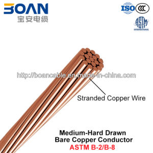 Mhdbc, Medium-Hard Drawn Bare Copper Conductor (ASTM B2/B8) pictures & photos