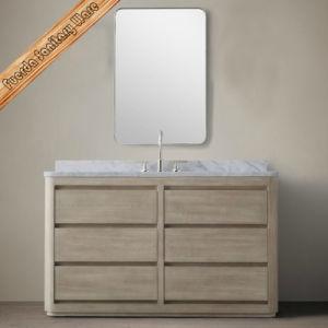 Fed-203 Transitional Oak Veneer Solid Wood Bathroom Vanities pictures & photos