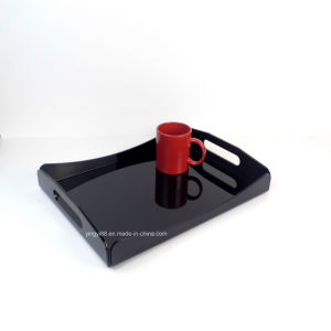Custom Clear Acrylic Plastic Serving Tray for Cocktails Drink Food Party Bar pictures & photos