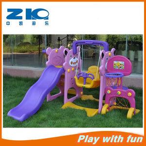 Outdoor Plastic Swing and Slide Indoor Swing with Slide pictures & photos