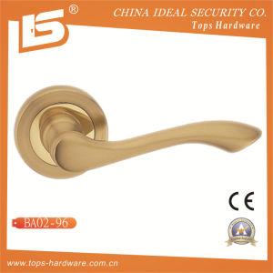 Brass Rosette Lock Door Handle-Ba0296 pictures & photos