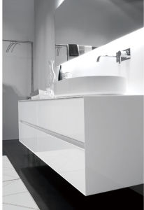 New Design Modern MDF Bathroom Vanity Cabinet with Sink pictures & photos