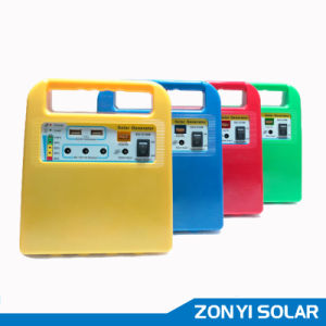 10W Solar DC Light System+MP3/Radio+Fan+4PCS Solar Light (ZY-102R) pictures & photos