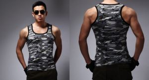 Cool Mens Camo Gym Vest with Quick-Drying pictures & photos