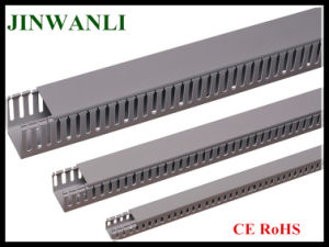 Electrical Plastic Open Slot Gray Wiring Duct pictures & photos