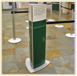 Indoor Floor-Standing Sign Pole for Information Display pictures & photos