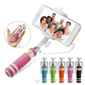 Mini Wired Selfie Stick Handheld Extendable Monopod pictures & photos