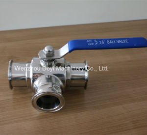 Stainless Steel Food Grade Tee Type Clamped Ball Valve pictures & photos