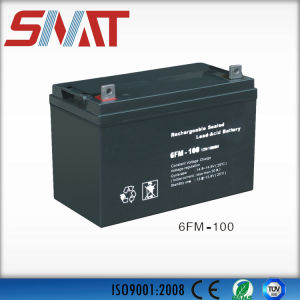 12V100ah Sealed Lead Acid Battery for Solar Power System pictures & photos