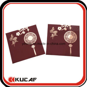 Custom Hot Stamping + Embossing Soft Touch Red Paper Envelope pictures & photos