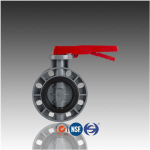 ASTM JIS Handled Wafer PVC CPVC Butterfly Valve pictures & photos