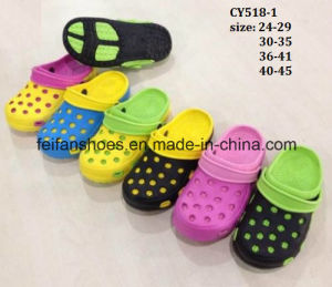 High Quality EVA Garden Shoes Comfort Slipper Shoes Beach Shoes (CY518-1) pictures & photos