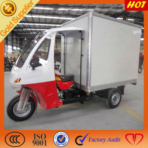 200cc Watercooling Engine Closed Cargo Box Tricycle with Cabin pictures & photos