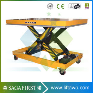 1ton Stationary Scissor Lift with Roller Table Platform pictures & photos