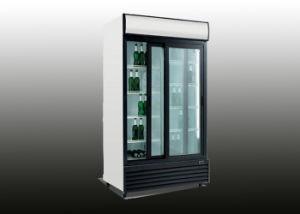 1000L 2 Glass Door Upright Beverage Refrigerator pictures & photos