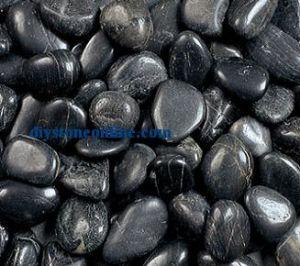 Black Garden Stone Pebble Beach Pebble Rock 80-120mm pictures & photos