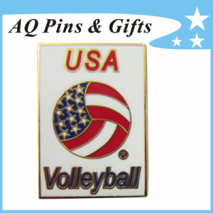 Factory Price USA Volleyball Metal Cloisonne Lapel Pin Badge (badge-088) pictures & photos