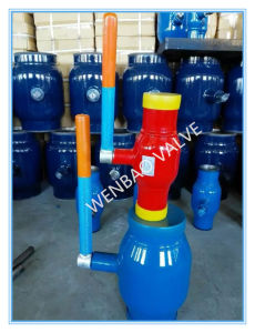 D65-Dn150 Levr Manual Ball Valve Fully Welded Body Ball Valve Pn25 pictures & photos