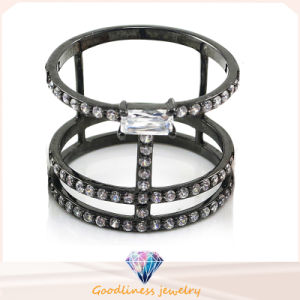 Fashion Jewelry Ring Gold Diamond Gemstone Crystal Women Men Engagement CZ Ring Custom Simply Shine White CZ 925 Sterling Silver Wedding Ring Pearl Ring pictures & photos
