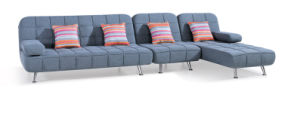 Modern Living Room Corner Fabric Leisure Sofa Bed pictures & photos