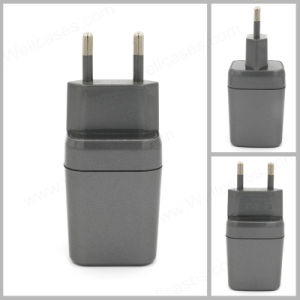 5V/2.1A Dual USB EU Plug Wall Charger for iPhone/Samsung pictures & photos