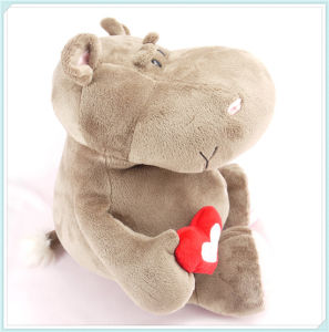 Red Heart Hippo Toy Valentine Plush Toys pictures & photos