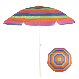Beach Umbrella with Stripe Design (OCT-BUT20) pictures & photos