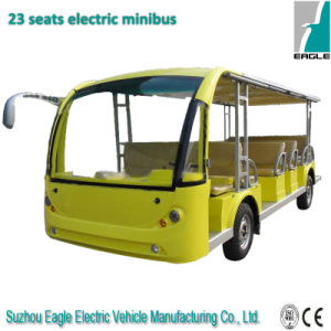 23 Passenger Electric Mini Bus with Light Yellow pictures & photos