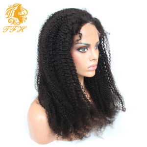 Brazilian Human Hair Short Kinky Curly Lace Front Wigs Virgin Hair Short Kinky Curly Full Lace Wigs Glueless for Black Women pictures & photos