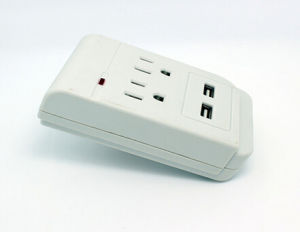 American 2 Way Travel Plug Adaptor with Dual USB Outlet pictures & photos