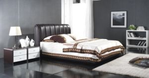 Bed, Leather Bed, Leather Soft Bed (6062) pictures & photos