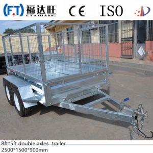Galvanized 7*4FT Single Axle Mesh Box Trailer Farm Trailer pictures & photos