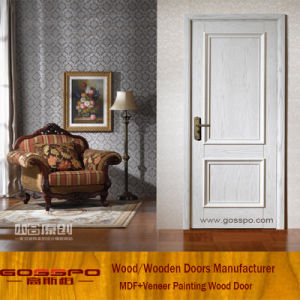 White Paint Hotel MDF Interior Wooden Door (GSP8-040) pictures & photos