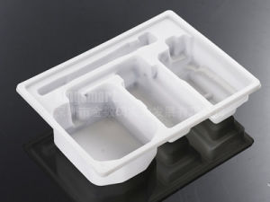 Plastic Thermoforming White Tray for Electronics (KSM-55)
