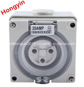 56so320 3 Pin 20A 220V IP66 Waterproof Industrial Plugs and Sockets pictures & photos