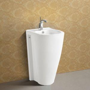 Bathroom Corner Floor Standing Pedestal Basin pictures & photos