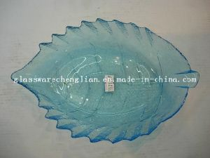 Solid Color Fish-Shape Glass Plate (P-012) pictures & photos
