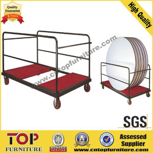 Strong Steel Round Table Trolley Cart pictures & photos