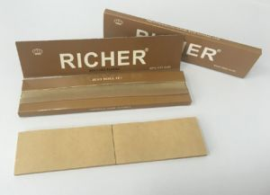 Custom Logo High Quality Unbleached Brown Cigarette Rolling Paper + Filters pictures & photos
