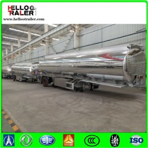 Saso Certificated 42000 Liters Fuel Gasoline Aluminum Tanker Trailer pictures & photos