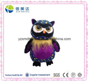 Star Pattern Cute Plush Big Eyes Owl Soft Toy pictures & photos